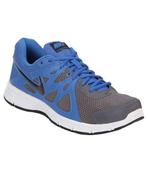 nike blue and grey running sports shoes available at