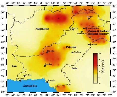 earthquake zones in pakistan seismic hazard map of pakistan 187 national seismic