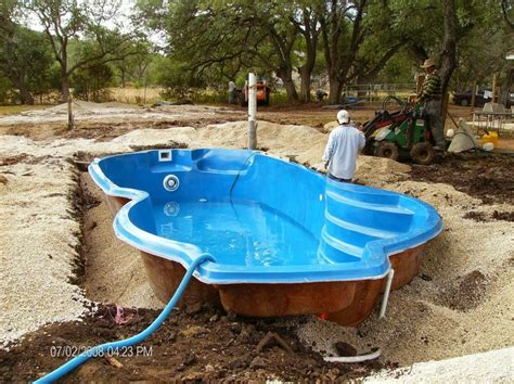 the problem with one fiberglass in ground pools