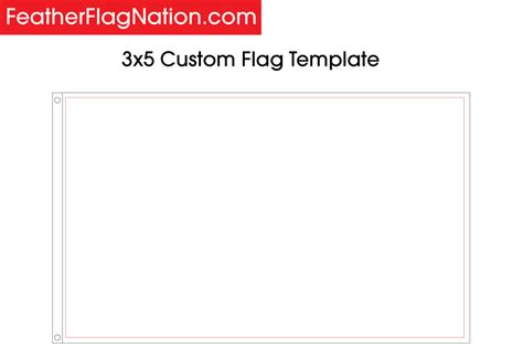 How To Design A 3x5 Custom Flag With Your Logo Feather Flag Nation Custom Template