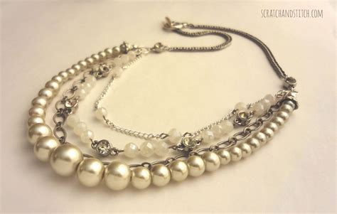 jewelry diy diy chain and pearl necklace