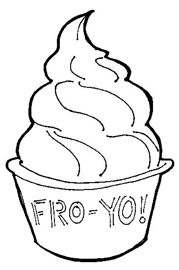 Coloring Page Yogurt by Frozen Yogurt Coloring Pages Coloring Page