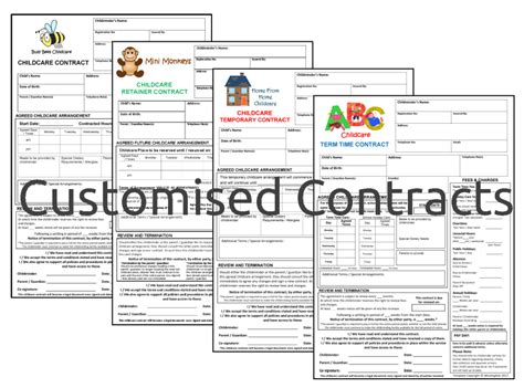 childminding policies templates childminding contracts pack includes temporary retainer
