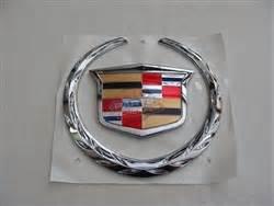 Cadillac Escalade Emblems Big Cadillac Escalade Ext Chrome Rear Tailgate Emblem