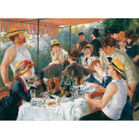 luncheon of the boating party theme jigsaw puzzle 50 pieces wooden art renoir