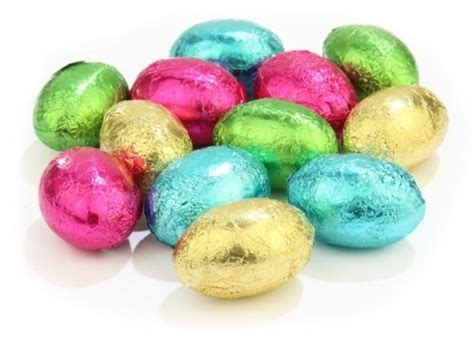 Egg Drops Choco 3 luxury solid milk chocolate assorted foiled eggs 3kg bag