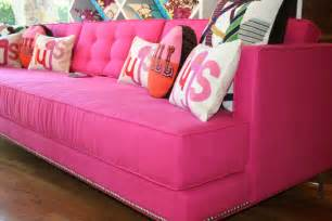 sofa rosa cheap and chic pink style