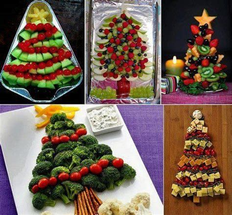 christmas trees made out of food celebrate christmas