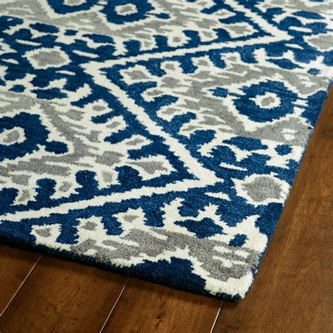Grey And Blue Rug blue and grey global inspirations rug rosenberryrooms