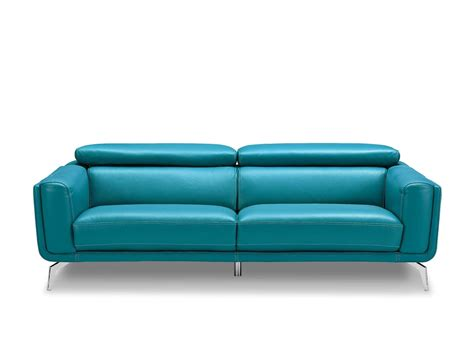 Sprint Leather Modern Sofa Modern Blue Sofa
