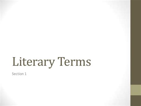 literary section ap english literary terms section 1
