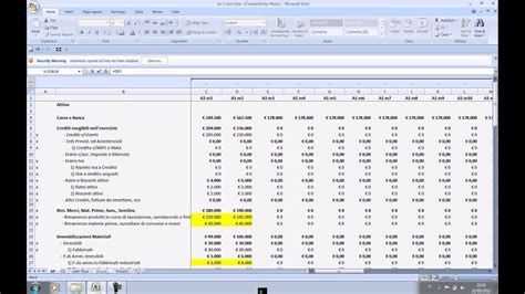 Business Plan In Excel Lezione 2 Youtube Business Plan Exle
