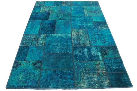 Blue Patchwork - patchwork rug blue in 240x170cm 1001 2164 buy at