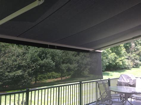 Awning Walls by Wall Mounted Awning Kreider S Canvas Service Inc