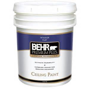 behr premium plus 5 gal flat interior ceiling paint 55805