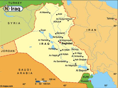 map of iraq cities free printable maps a detailed map of iraq printfree