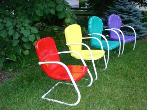 Retro Metal Lawn Chairs Vintage For Children Vintage Patio Chairs