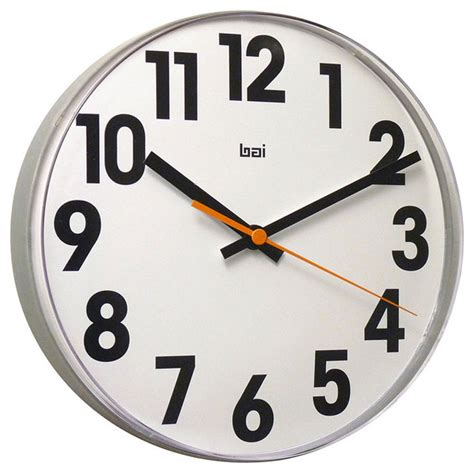 large numbers lucite wall clock modern wall clocks