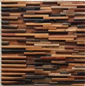 ancient wood mosaic tile backsplash wood mosaic