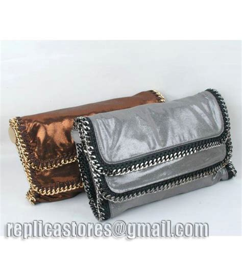 Stella Mccartney Mirror Quality 108 stella mccartney falabella pvc fold clutch silver