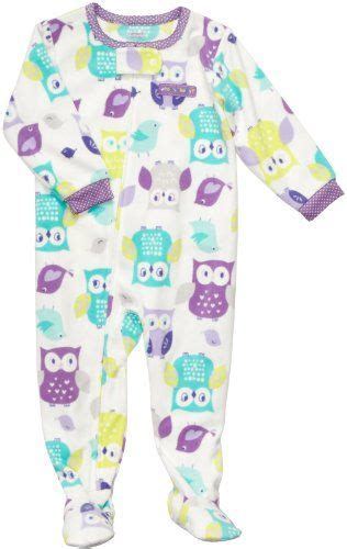 carters girls owl fleece footed blanket sleeper pajamas list price  price
