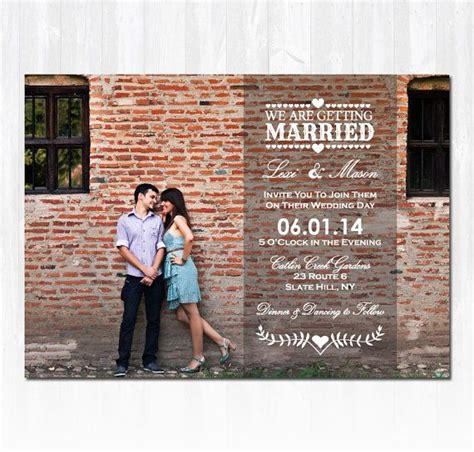 Wedding Invitations Using Photos by Photo Wedding Invitation Diy Printable Digital File Or