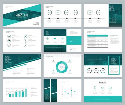 layout presentation illustrator business presentation design template and page layout with