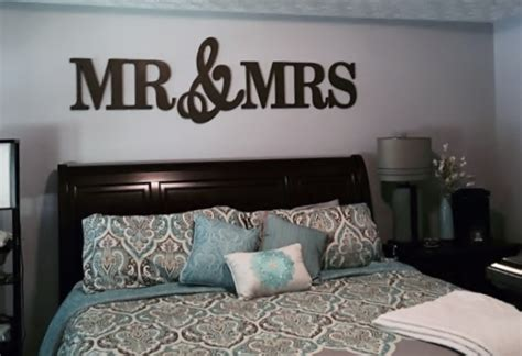 mr mrs wall decor wood letters king size wall hangings