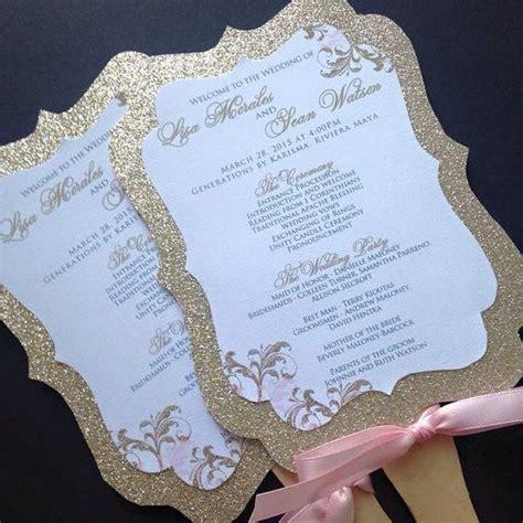 fans for wedding wedding fan programs glitter wedding fan programs gold