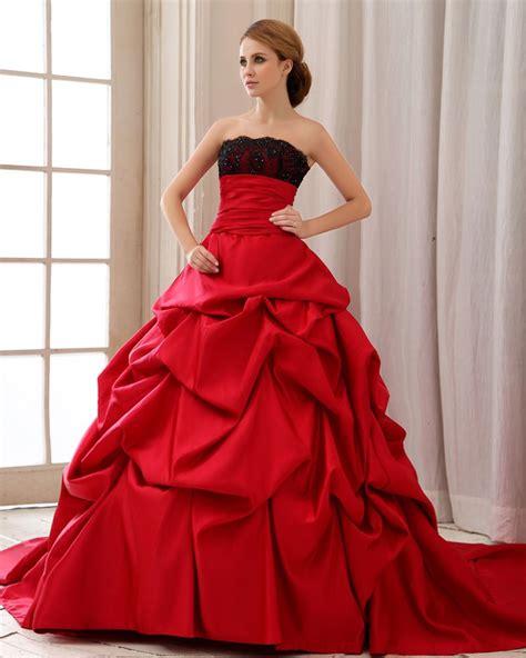 red wedding dresses cheap   Ideal Weddings