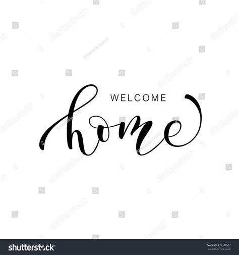 welcome home card lettering ink illustration