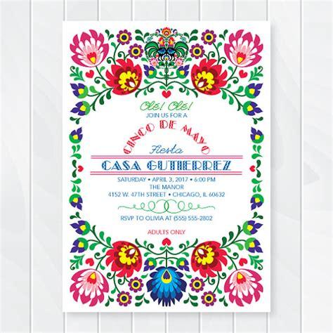 Cinco De Mayo Invitations Mexican Fiesta Invites Fiesta Mexican Invitation Template