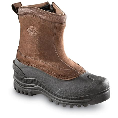 mens insulated snow boots guide gear s insulated side zip winter boots 400