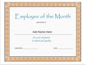 Employee Of The Month Certificate Templates Pics Photos Employee Of The Month Template Recruiting