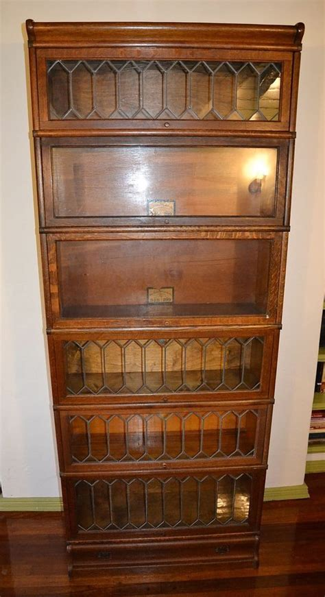 barrister bookcase leaded glass antique oak globe wernicke leaded glass barrister lawyer