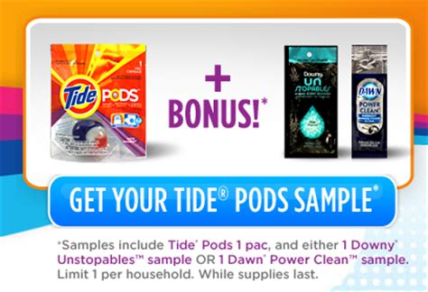tide pod coupons 2012 printable choose free tide pods downy or dawn sle