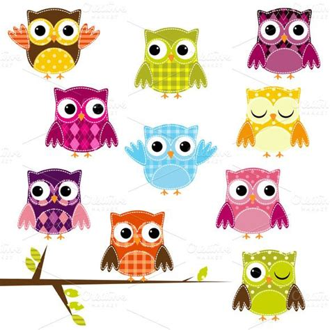 Patchwork Owls - patchwork owls vectors and clipart click on