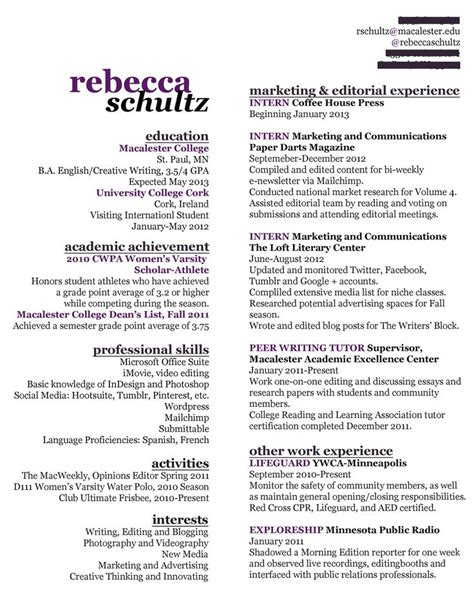 Creative Resume Sles Pdf The World S Catalog Of Ideas
