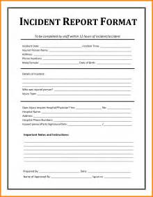 Incident Report Letter Sle Format 8 Sle Of Incident Report Letter Template Farmer Resume