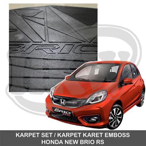 Karpet Karet Mobil Brio karpet set karpet lantai karet emboss honda new brio