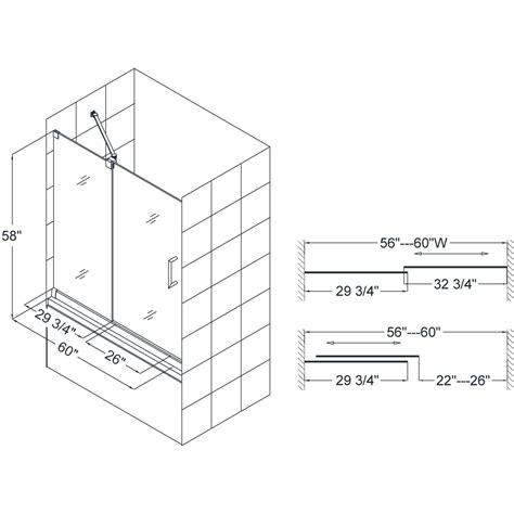 Shower Door Dimensions Dreamline Showers Mirage Sliding Tub Door