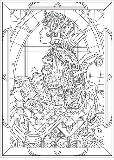 coloring pages for adults art queen art nouveau style quot art nouveau quot coloring pages