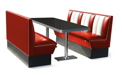 Diner Chair by Retro Furniture Diner Booth 150cm Six Seater