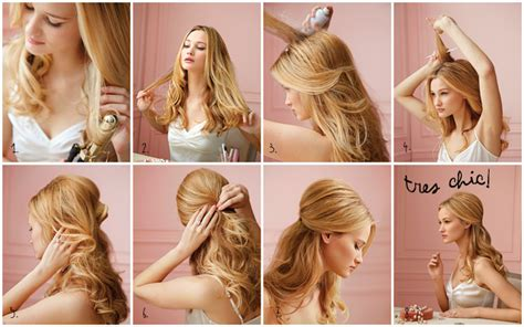 hairstyles for party down holiday hair half up down party tutorial martha stewart