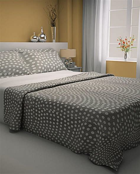 grey pattern bed sheets zapprix grey white pattern polka dots bed sheets with two