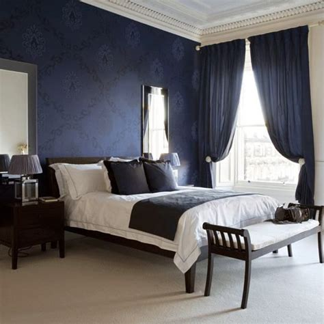 dark blue curtains bedroom 25 best ideas about dark blue bedrooms on pinterest