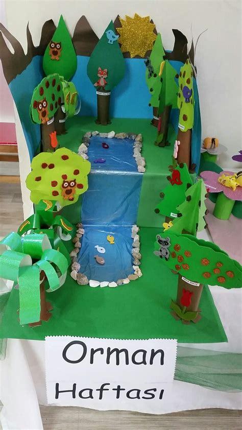 pin en sevdi i oyun minik hayvanlar ve bunlar kendi yazd orman haftası sanat etkinlik okul 246 ncesi sanat