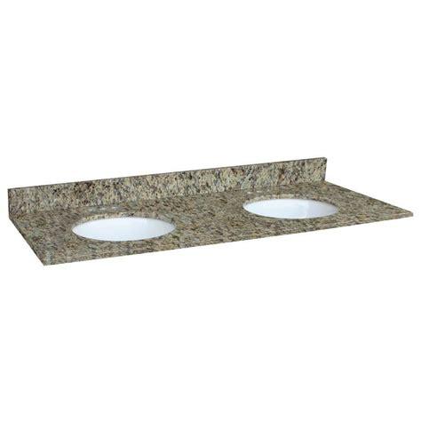 Vanity Tops And Bowls by Design House 61 In W Granite Vanity Top In Venetian Gold