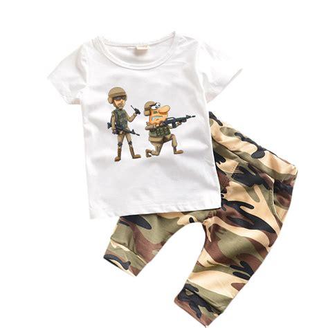 Boy Set 2 In 1 2 pcs boys clothes summer 2017 new baby boy clothes children toddler boys clothing set