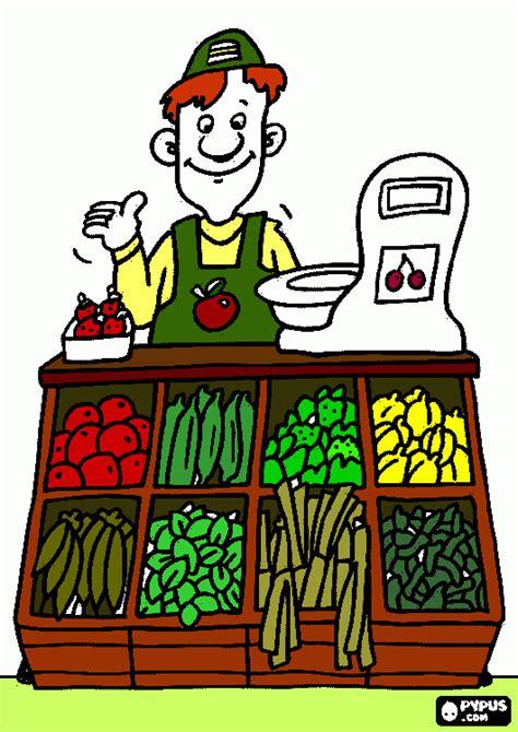 del dibujo infantil a 8416772037 verdulera para colorear verdulera para imprimir